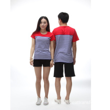 Factory price color striped short T shirts